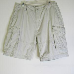 NAUTICA Khaki Ripstop Modern Fit Cargo Shorts